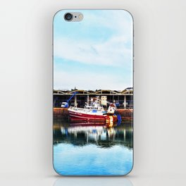 3 Boats in Dieppe Harbour iPhone Skin