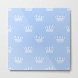 Louis Blue Crowns- Prince of Cambridge Metal Print