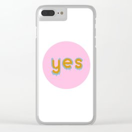 Yes 01 Clear iPhone Case