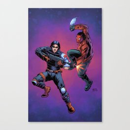 Winter Soldier vs. Red Hood Canvas Print