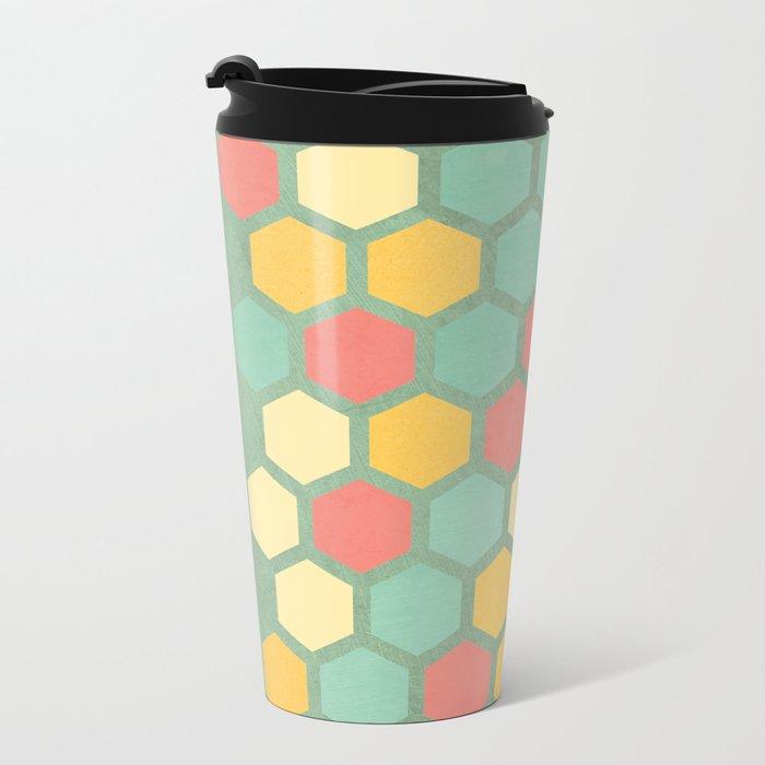 Summer bees, makes me feel fine Metal Travel Mug