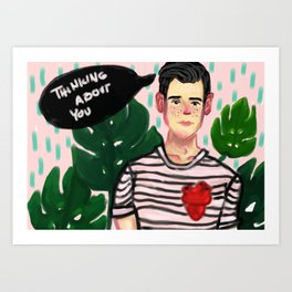 - Thinking about you - Art Print