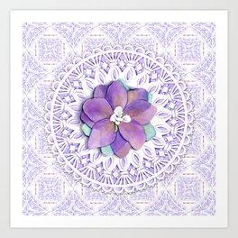 Delphinium Lace Art Print
