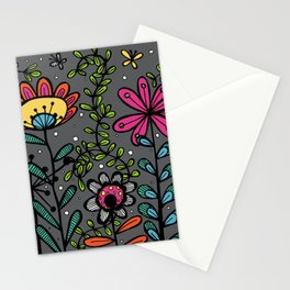 Weird and wonderful (Garden) - fun floral design, nature, flowers Stationery Cards