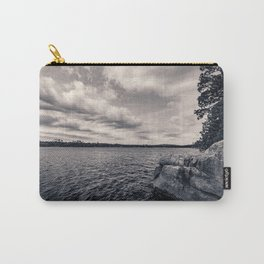 Black and White Boundary Waters Lake Carry-All Pouch
