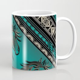 Horse Nation (Aqua) Coffee Mug