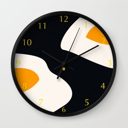 fried eggs Wall Clock