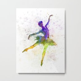 woman ballerina ballet dancer dancing  Metal Print