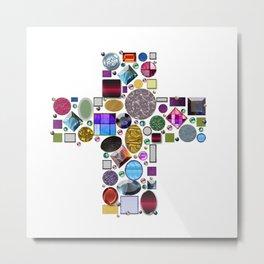 Jewelry Cross Metal Print