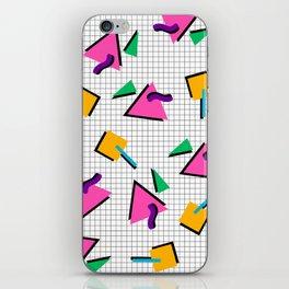 90's Geometric Print iPhone Skin