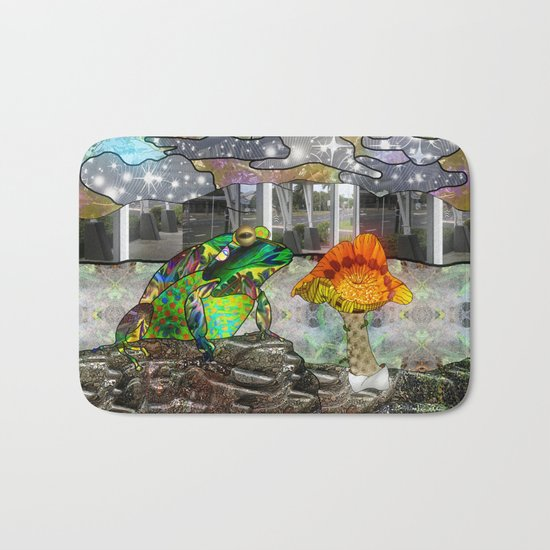 Doodlage 05 - Frog and Fungus   Bath Mat