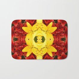 """A Gathering of Lilies"" Remix - 1 (3-1) [D4465~12] Bath Mat"
