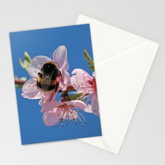 Bumblebee and Peach Blossom Stationery Cards