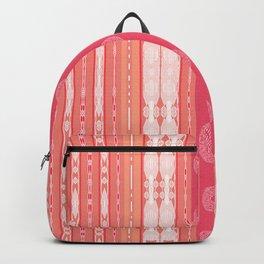 Pink Peachy Pattern Backpack