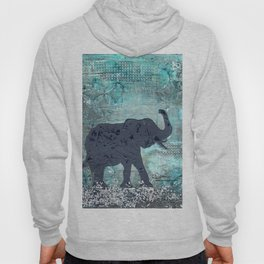 Majestic Series: Turquoise and silver Hoody
