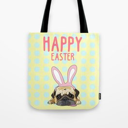 Happy Easter Pug Tote Bag