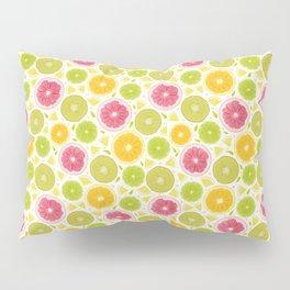 Summer Lemonade // Citrus Illustration // Spring Bright Colorful Fruits Pillow Sham