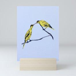 Commitment | line illustration of birds Mini Art Print