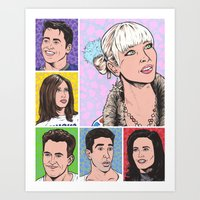 friends tv Art Prints featuring friends by turddemon