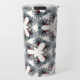 Boho flower bloom vector all over print. Travel Mug