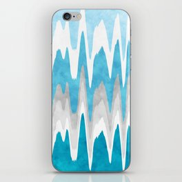 Sky Blue Abstract iPhone Skin