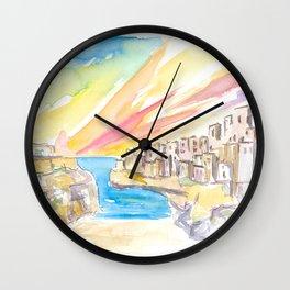 Polignano wonderful Morning in Southern Italy Wall Clock