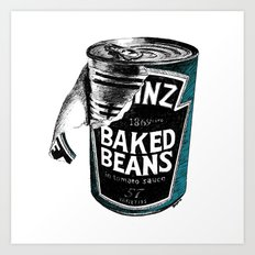 Beanz pen Drawing (colour) Art Print