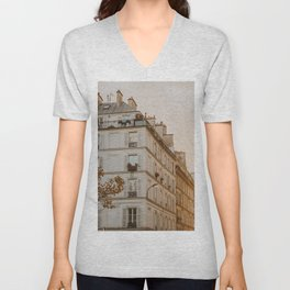 Sunset in Paris Unisex V-Neck