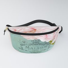 Shabby Chic Pink Paris Peonies  Fanny Pack