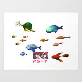 P S-Y Art Print