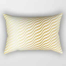 Gold Bargello Wavy Stripe Rectangular Pillow