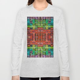 187 - colour abstract design Long Sleeve T-shirt