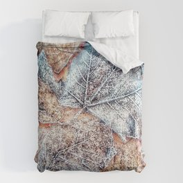 winter leaves pattern Comforters