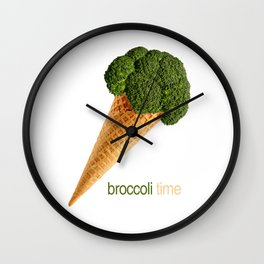 broccoli ice cream Wall Clock