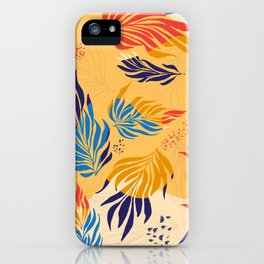 Primary Colors Leaves iPhone Case