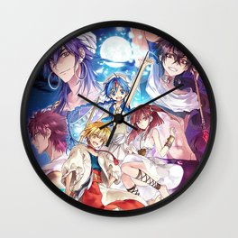 Magi The Labyrinth Of Magic Poster Wall Clock
