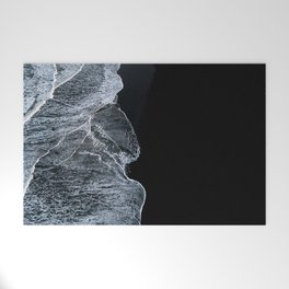 Waves on a black sand beach in iceland - minimalist Landscape Photography Welcome Mat