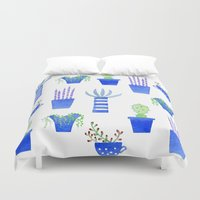 succulents Duvet Covers featuring Succulents by Nic Squirrell