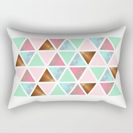 Repeating Triangles Rectangular Pillow