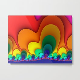 Colorful Fractals Art Shapes Metal Print
