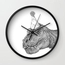 Party Dinosaur Wall Clock