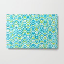 Elegant Abstract in Teal and Green Metal Print
