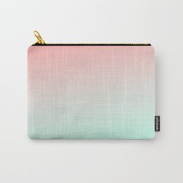 Ombre gradient digital illustration coral green colors Carry-All Pouch