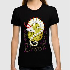Dragon Egg MEDIUM Black Womens Fitted Tee