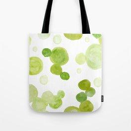 Abstract Green Watrcolor Circes Tote Bag