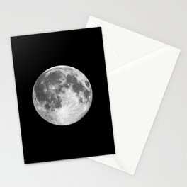 Full Moon print black-white photograph new lunar eclipse poster bedroom home wall decor Stationery Cards