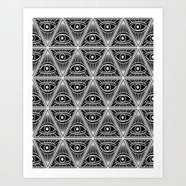 Third Eye Magic Geometric Pattern Art Print