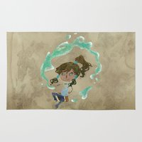 korra Area & Throw Rugs featuring Chibi Korra by Serena Rocca