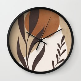 Abstract Art -Plant Wall Clock