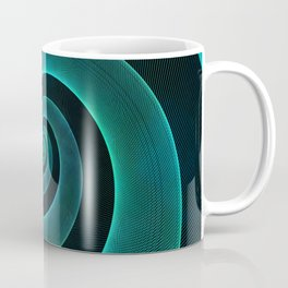 Magical Teal Green Spiral Design Coffee Mug